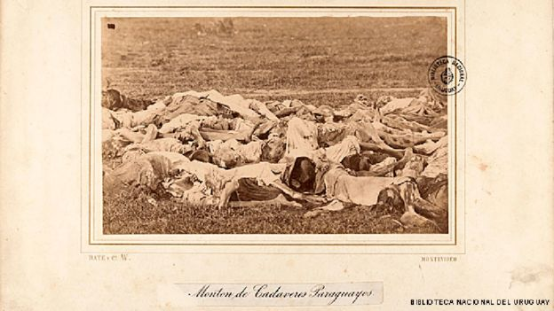 Cadáveres de paraguayos caídos en la Guerra de la Triple Alianza