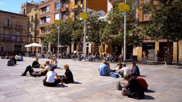 Plaza Del Sol en Barcelona.