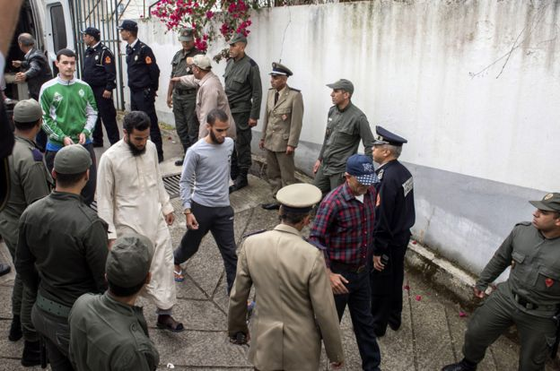 Suspects arriving, 2 May 19