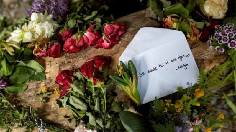"Flowers were left at the scene of the killing along with a letter that said: ""Sleep well until we see each other again, Nadja"""
