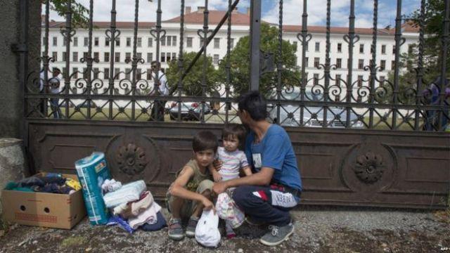 Traiskirchen, Austria - migrants