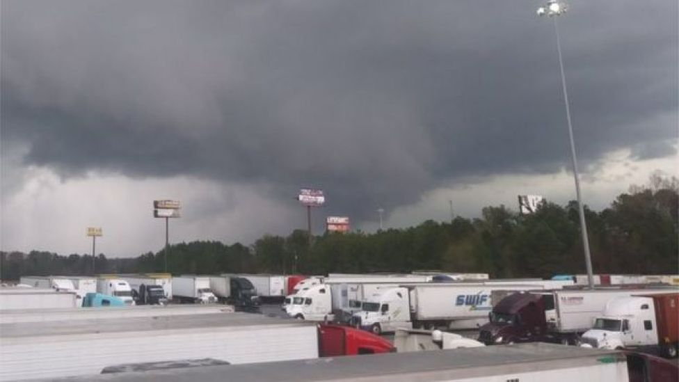 Tornado in Georgia, US, on 3 March 2019