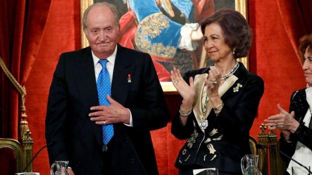 El rey emérito, Juan Carlos I y la reina Sofía