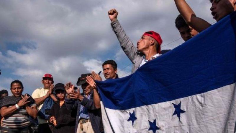Marcha de caravana de migrantes