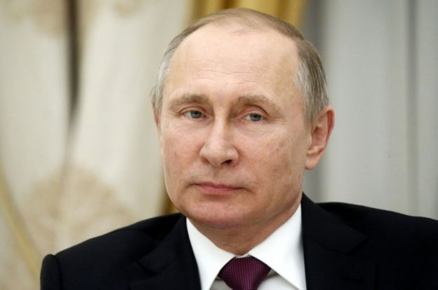 Russian President Vladimir Putin pictured on 16 March, 2017.