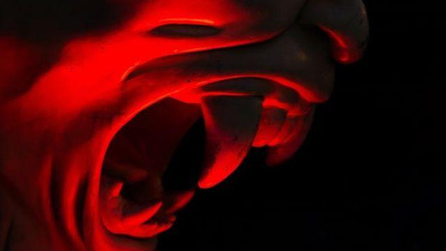 Estatua que representa al diablo