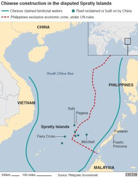 Map of the South China Sea