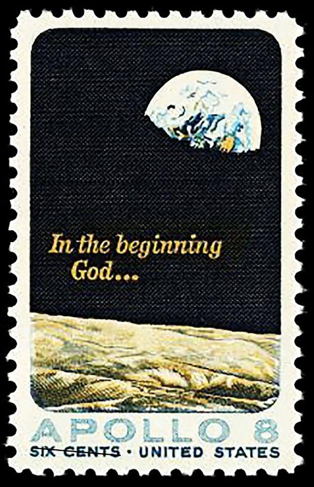Sello con la imagen de Earthrise