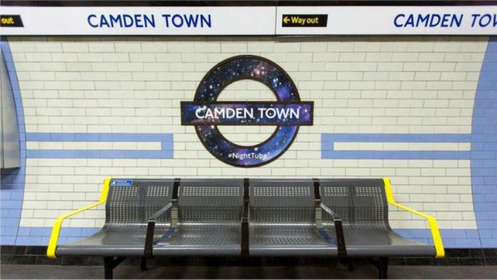 Пустая станция метро Камден-таун
