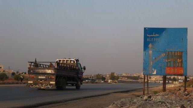 A road near Sarmin in Syria