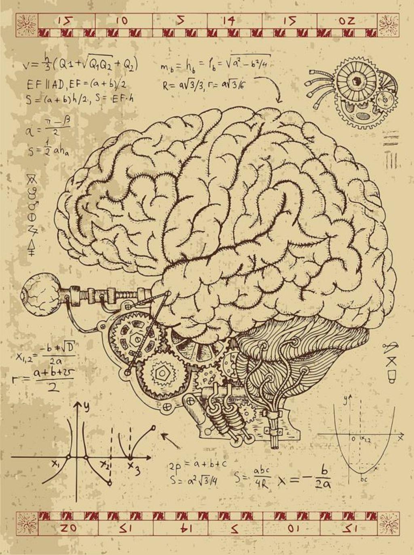 Cerebro estilo steam punk