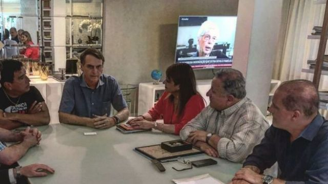 Onyx Lorenzoni em reunião com Jair Bolsonaro