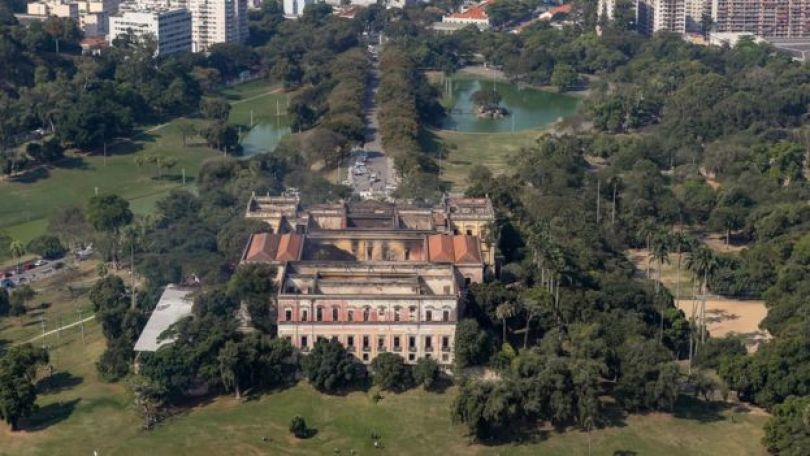 Museu Nacional após incêndio