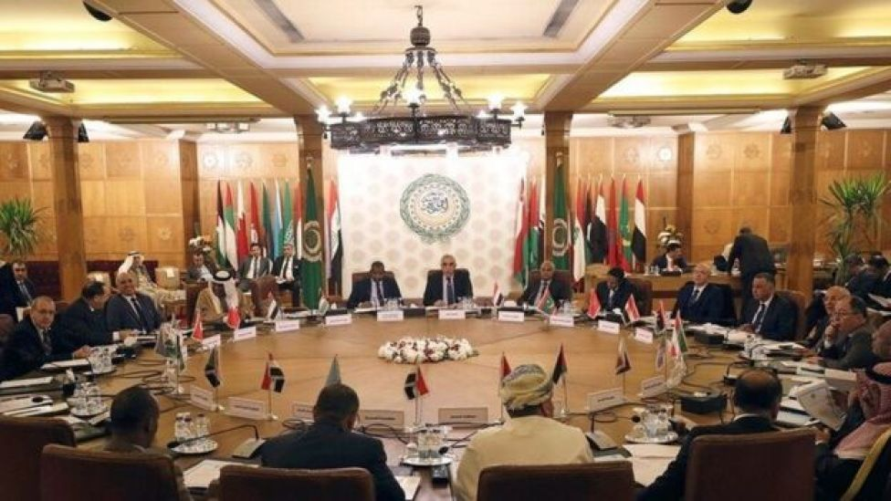 اجتماع بجامعة الدول العربية