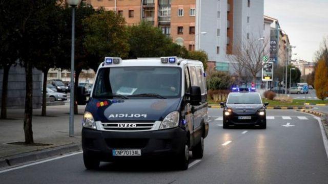 Carros da polícia na Espanha
