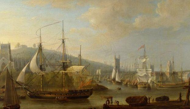 1750'de Bristol gemileri 20 bin köleden 8 binini Amerika'ya taşıdı