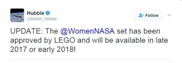 The Twitter account for Nasa's Hubble Space Telescope expressed its approval