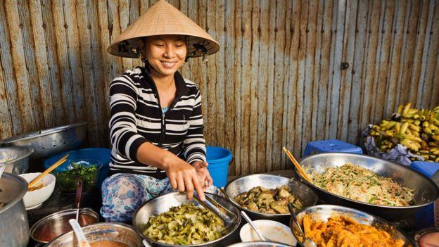 Vietnamese street vendor