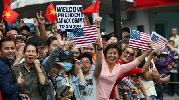 Tổng thống Hoa Kỳ Barack Obama đã được chào đón nồng nhiệt khi tới Việt Nam hồi tháng 5/2016