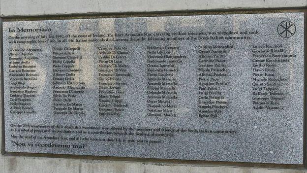 Scottish Italian victims