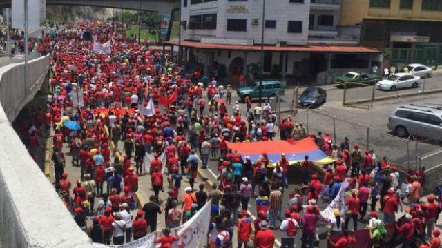 Manifestación chavista