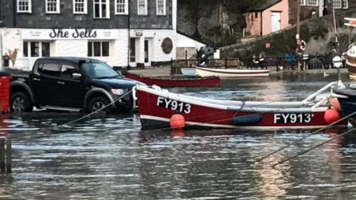Flooding in Mevagissey