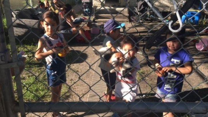 Children speak to Bear Clan