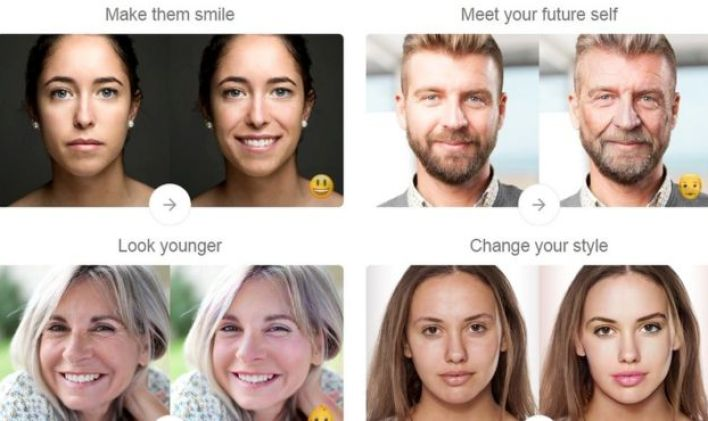 Examples of FaceApp features