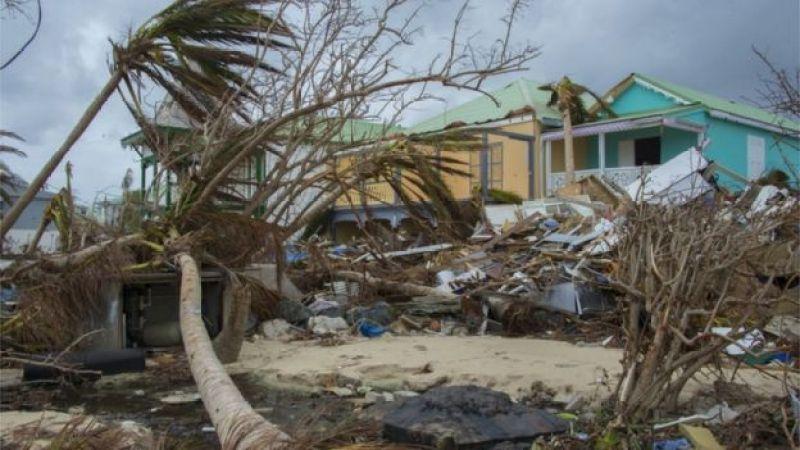 Destrozos del huracán María.