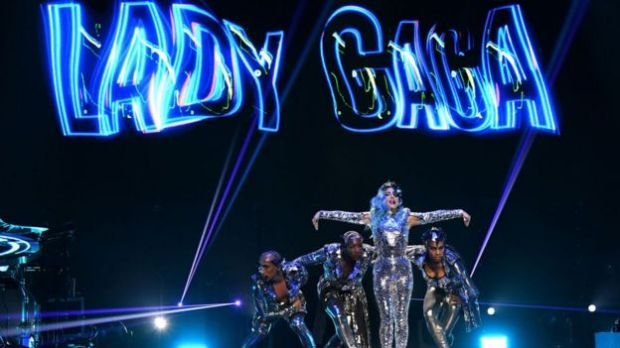 Lady Gaga performs onstage during AT&T TV Super Saturday Night at Meridian at Island Gardens on February 01, 2020 in Miami.