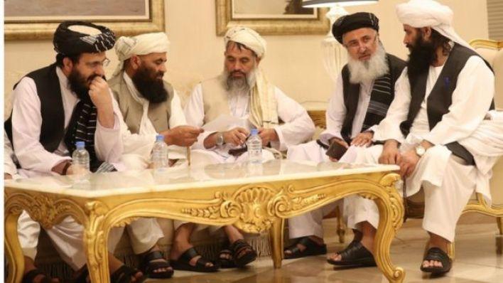 وفد طالبان في مفاوضات السلام