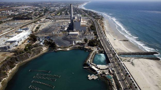 Vista desde el aire de planta de Carlsbad, en San Diego