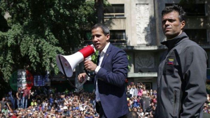 Juan Guaidó y Leopoldo López juntos.