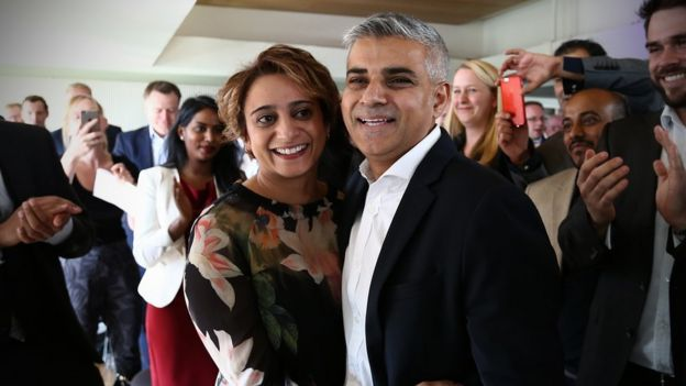 Sadiq and wife Saadiya at his nomination