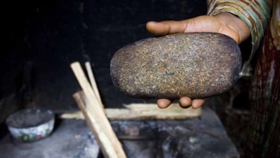 Stone used for breast ironing