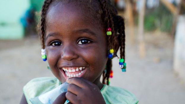 Una niña haitiana