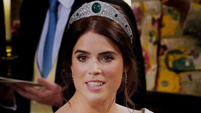 Princess Eugenie wearing the Greville Emerald Kokoshnik Tiara