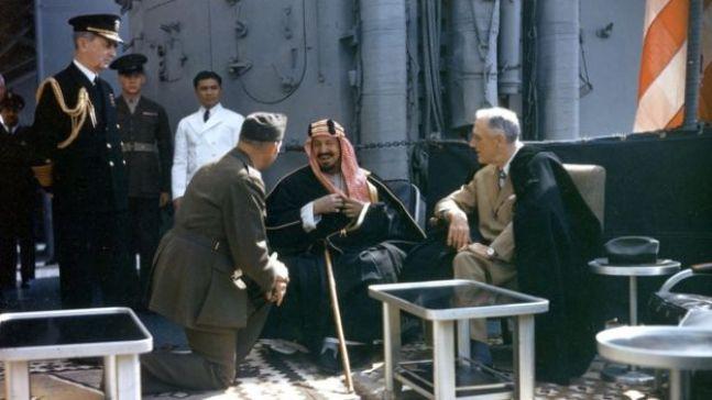 روزفلت وعبد العزيز آل سعود