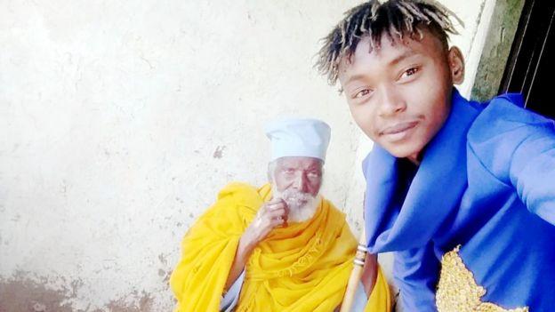 Grandson with Aba Tilahun