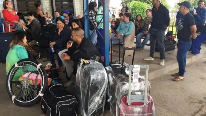 Puesto fronterizo entre Venezuela y Brasil