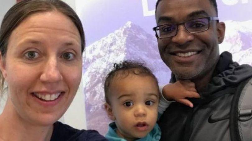 Lindsay Gottlieb e Patrick Martin com o filho Jordan