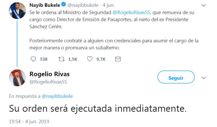 Tuit de Bukele