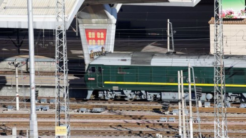 A train believed to be carrying North Korean leader Kim Jong Un arrives at Beijing Railway Station in Beijing, China January 8, 2019.