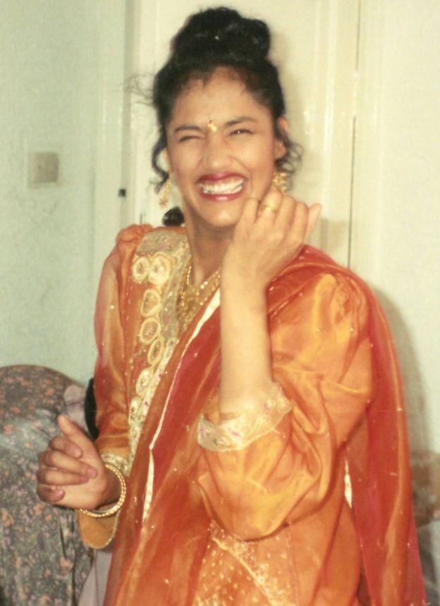 Kuli on her wedding day