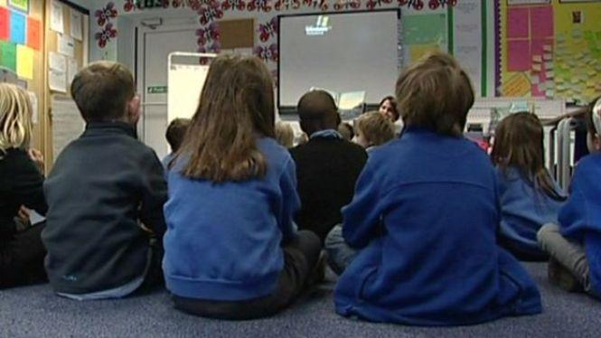 Primary children in classroom