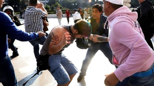 Clashes between members of the LGBT community and Zapata supporters