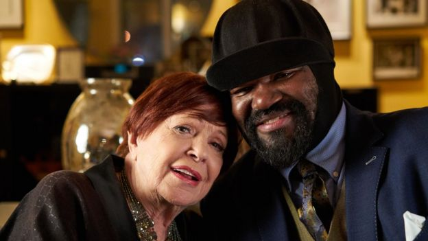 Annie Ross with Gregory Porter in 2017