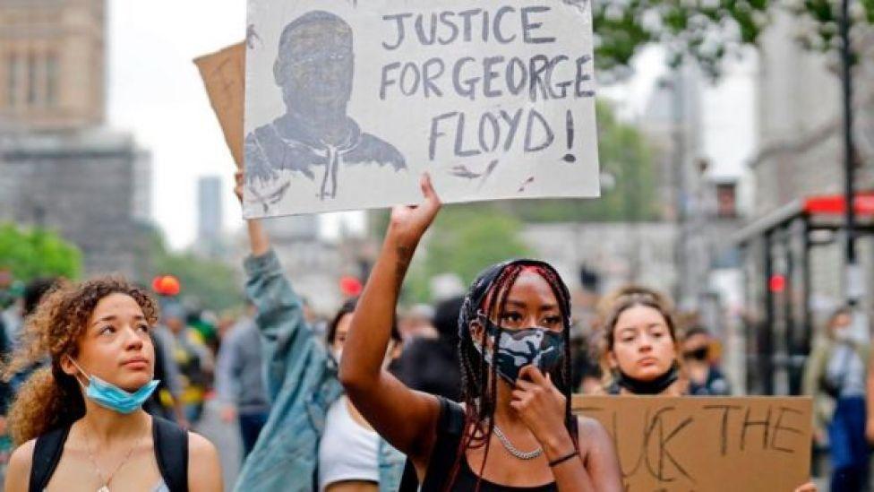Protesta por la muerte de George Floyd en Reino Unido