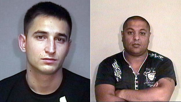 Ferenc Illes (left) and Janos Orsos were jailed last year for human trafficking offences