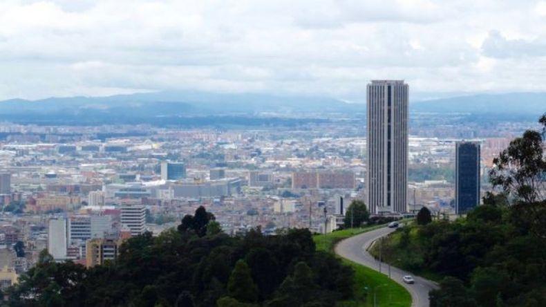 Foto aérea de Bogotá.